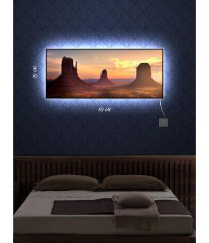 Картина с подсветкой 29х69 Три вершины