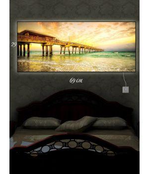 Картина с подсветкой 29х69 Тихая пристань