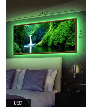 LED Картина Водопад в тропиках