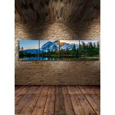 Модульная картина Рассвет в горах