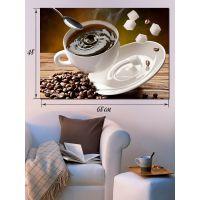 Картина на холсте 48х68 Пряный кофе