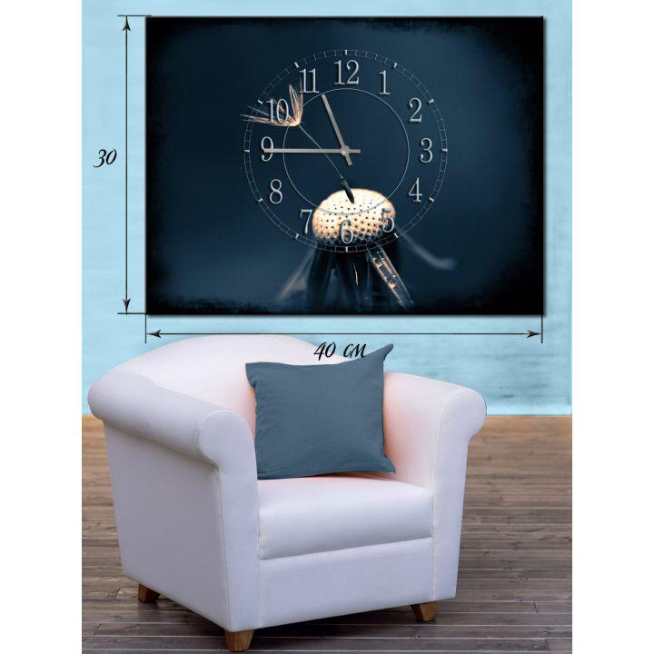 Часы-картина 30х40 на холсте Одуванчик