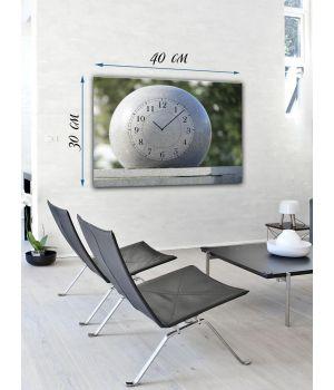 Часы-картина 30х40 на холсте Белый мяч