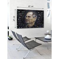 Картина на холсте 48х68 Технический портрет