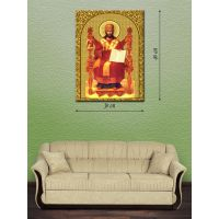 Картина на холсте 30х40 Иисус Христос на троне