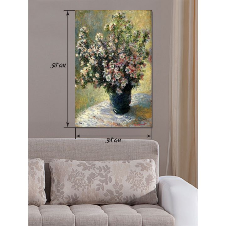 Картина на холсте 58х38 Цветочная ваза