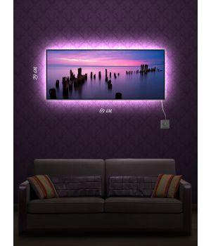 Картина с подсветкой 29х69 Чарующий закат