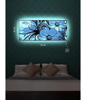 Картина с подсветкой 29х69 Цветочный оттиск