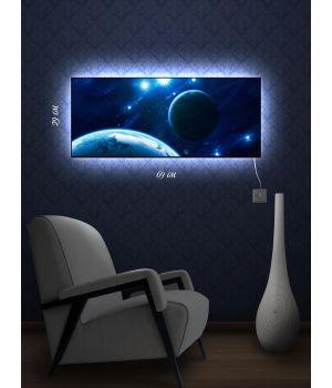 Картина с подсветкой 29х69 Свечение в космосе
