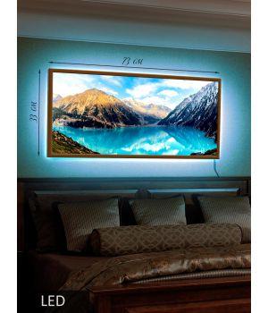 LED Картина Горное озеро