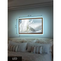LED Картина Средняя, Молоко