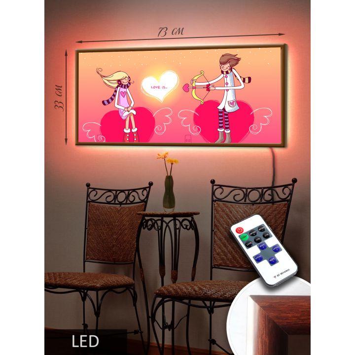 Светодиодная LED Картина Амур