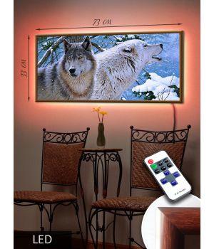 LED Картина Волк и Волчица