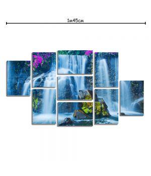 Модульная картина декоративная с принтом Водопад
