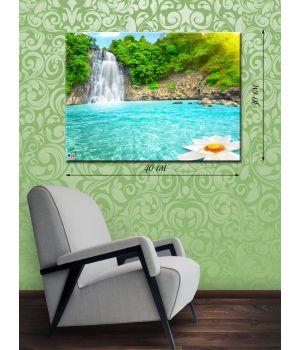Картина на холсте 30х40 Водопад
