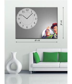 Часы-картина 30х40 на холсте История игрушек