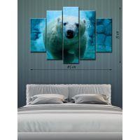 Модульная картина на холсте Белый медведь