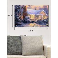 Картина на полотні 38х58 Різдвяний дворик