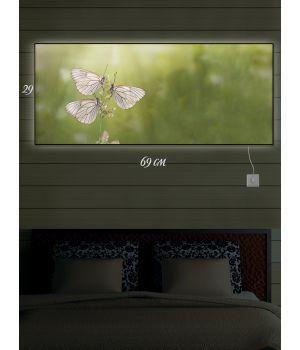 Картина с подсветкой 29х69 Три девицы под окном