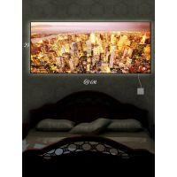 Картина с подсветкой 29х69 Золотой город