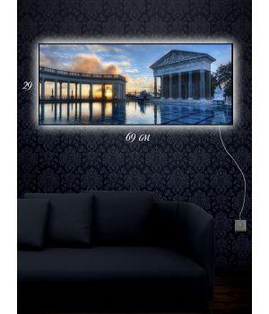 Картина с подсветкой 29х69 Театр на воде