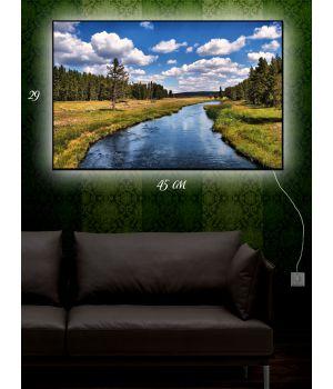Картина с подсветкой 29х45 Быстрый ручеек