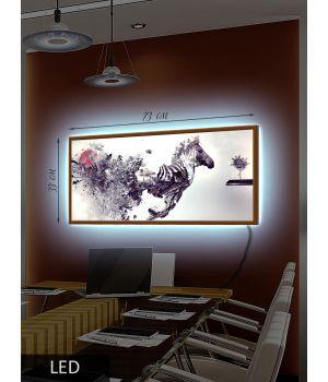 LED Картина Зебра, абстракция