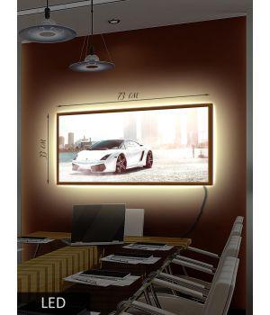 LED Картина Белая и быстрая