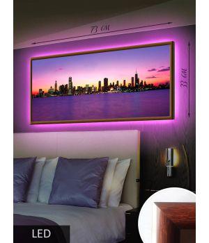 LED Картина Городской пейзаж