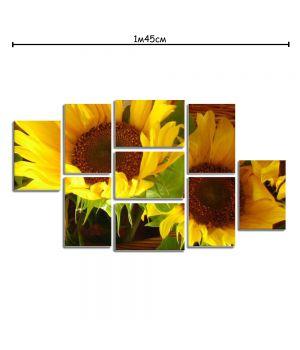 Модульная картина на холсте с принтом Подсолнухи