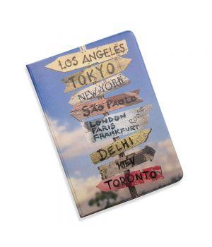 Красивая обложка холдер для паспорта, 5 в 1 Города