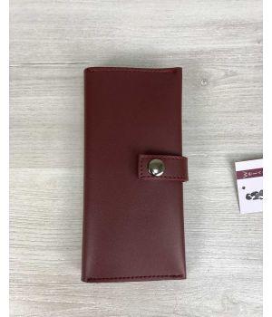 Женский кошелек бордо, 76403