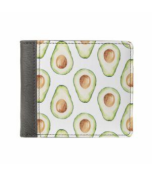 Необычный кошелек бумажник с принтом Авокадо, экокожа