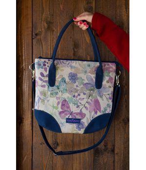 Дизайнерская женская тканевая сумка с принтом Маренго