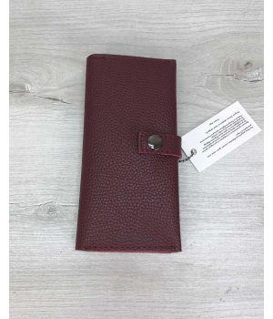 Женский кошелек бордовый, 76397