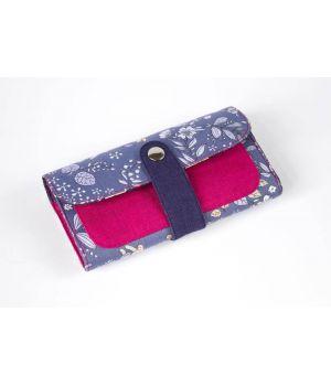 Большой дизайнерский кошелек женский с рисунком Дымчатый