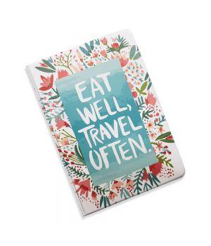 Красивая обложка холдер для паспорта, 5 в 1 Кушай и путешествуй
