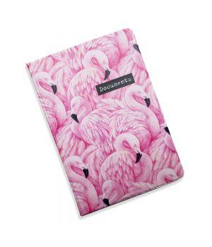 Красивая обложка холдер для паспорта, 5 в 1 Фламинго