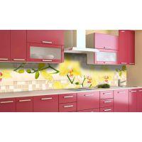 Наклейка вінілова кухонний фартух 60х300 см Орхідеї текстура