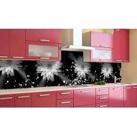 Наклейка вінілова кухонний фартух 60х250 см Георгіни сфера