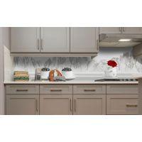 Наклейка вінілова кухонний фартух 60х250 см Кава вид на гори