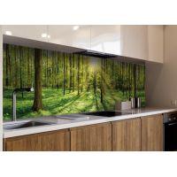 Наклейка кухонний фартух 60х300 см Ліс, проміння сонця