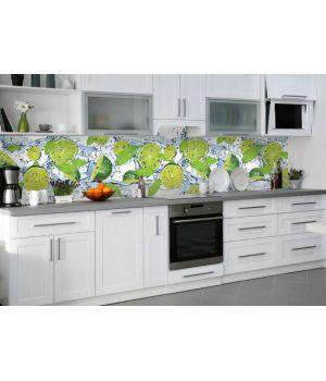 Наклейка вінілова кухонний фартух 65х250 см Лайм, м'ята та вода