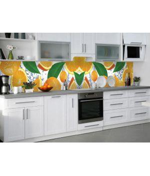 Наклейка вінілова кухонний фартух 65х250 см Апельсинова насолода