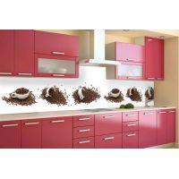 Кухонний фартух 65х250 см Кавові кружки