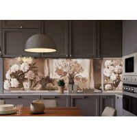 Наклейка Кухонный фартук 65х250 см Картина сепия