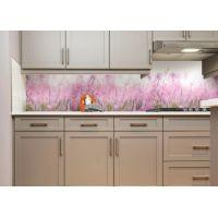 Наклейка Кухонный фартук 65х250 см Луг розовый