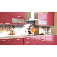 Наклейка вінілова кухонний фартух 60х300 см Карамельна кава