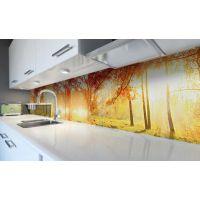 Наклейка вінілова кухонний фартух 60х300 см Сонячний ліс