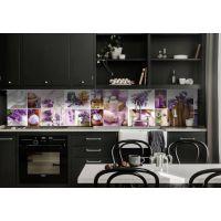 Наклейка кухонный фартук 65х250 см Лаванда мозаика сиреневый